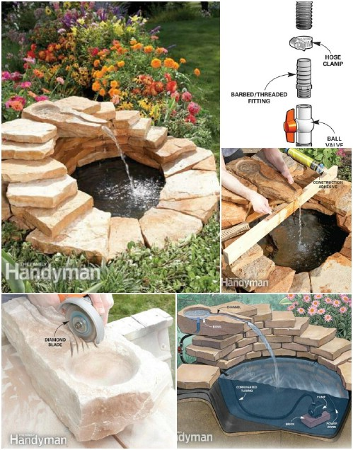 30 creative and stunning water features to adorn your for Homemade water pump for pond
