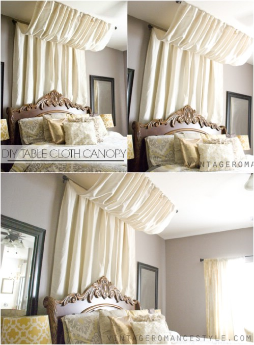 Charmant No Sew Pleated Canopy