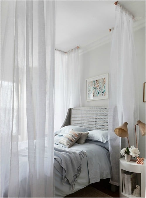 Corner Canopy & Sleep in Absolute Luxury with these 23 Gorgeous DIY Bed Canopy ...