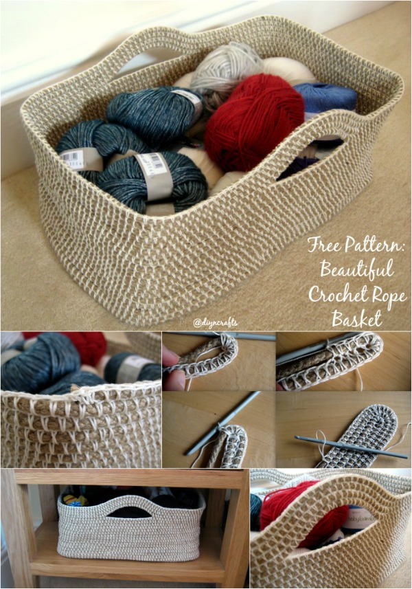 Time For Another Free Pattern: Beautiful Crochet Rope Basket