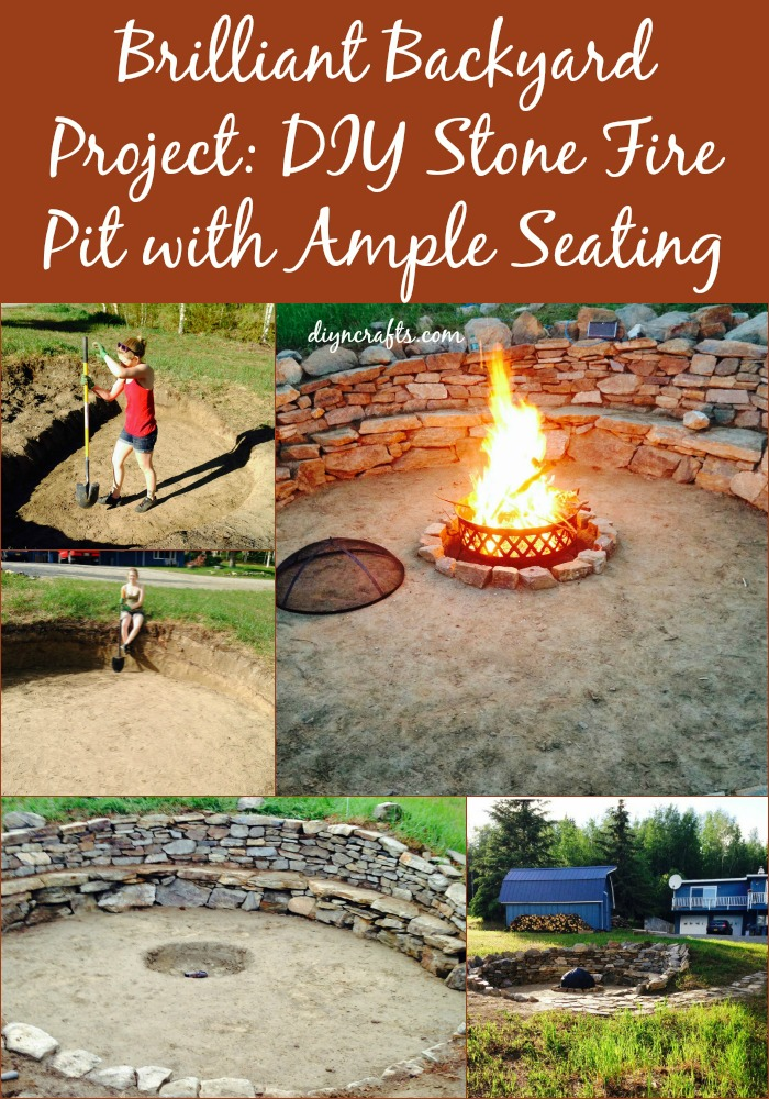 Brilliant Backyard Project: DIY Stone Fire Pit With Ample Seating.