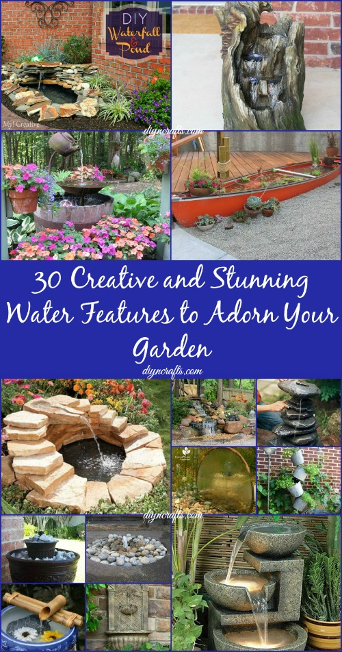 30 creative and stunning water features to adorn your garden diy