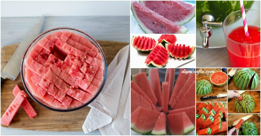 12 Fun And Clever Ways To Slice Serve And Enjoy Watermelon This Summer Diy Amp Crafts