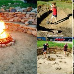 Brilliant Backyard Project: DIY Stone Fire Pit with Ample Seating