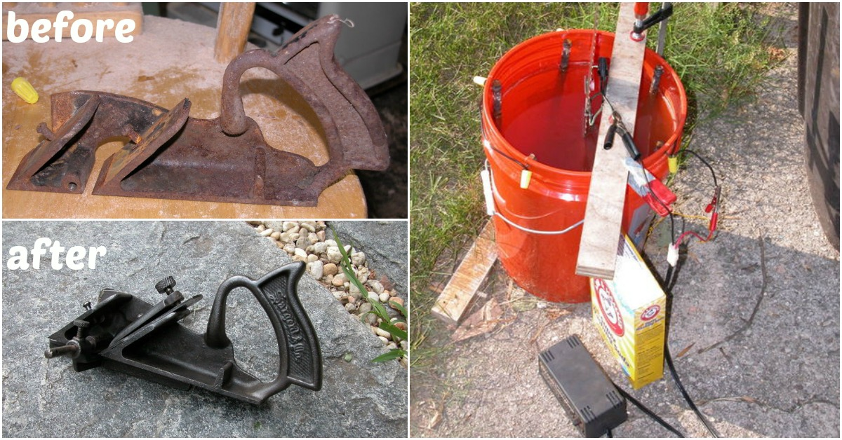 Rusty Tools Try This Incredible Electrolytic Rust Removal
