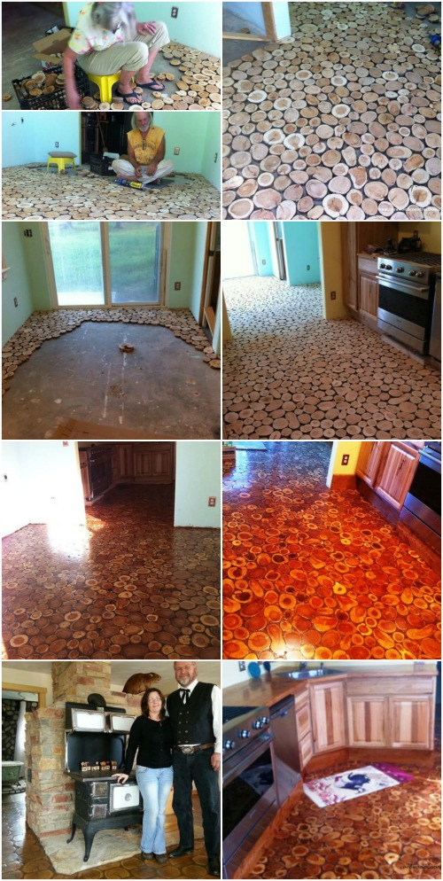 Considering Cordwood? Check out this Stunning Handmade Flooring!