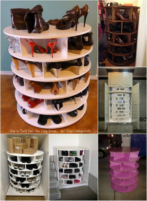 How To Build Your Own Lazy Susan For Shoes