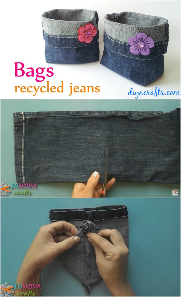 How To Make Adorable Bags From Repurposed Jeans Diy Amp Crafts