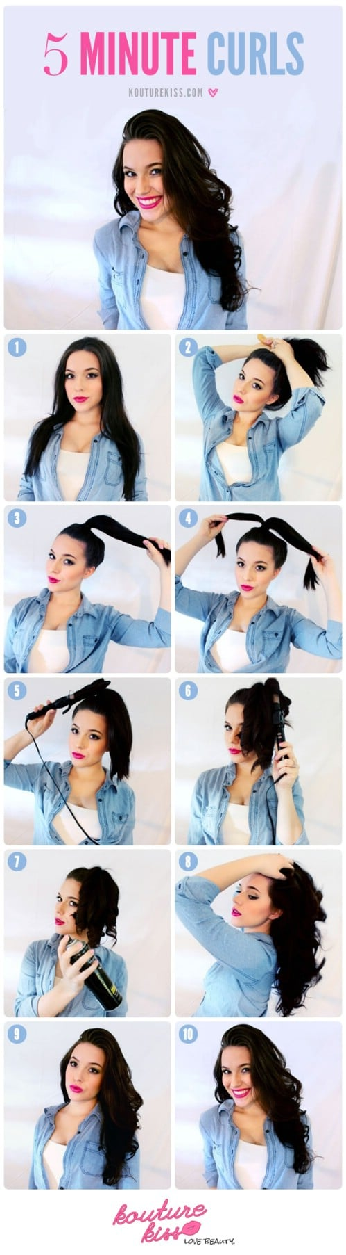 20 gorgeous 5 minute hairstyles to save you some snooze time diy quick curls solutioingenieria Choice Image