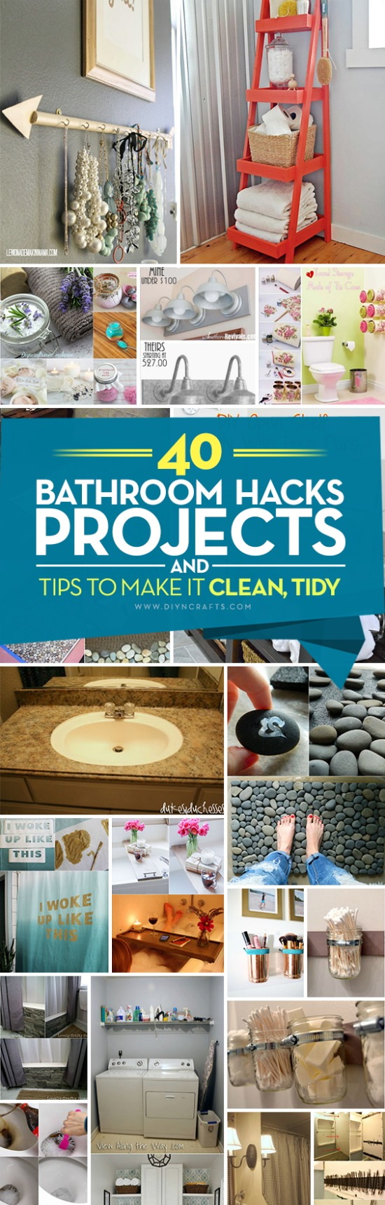 40 Bathroom Hacks, Projects and Tips to Make it Clean, Organized and Stylish {DIYnCrafts Exclusive}