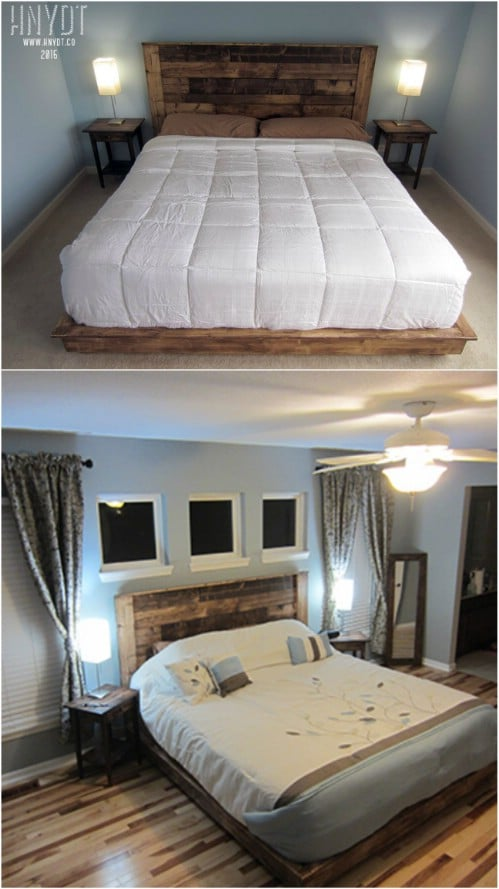 21 diy bed frame projects – sleep in style and comfort diy crafts