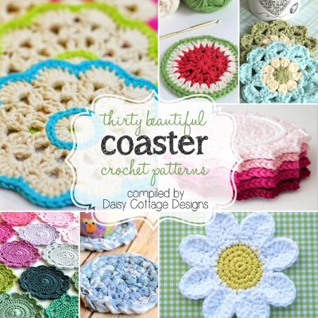 Crochet drink coasters