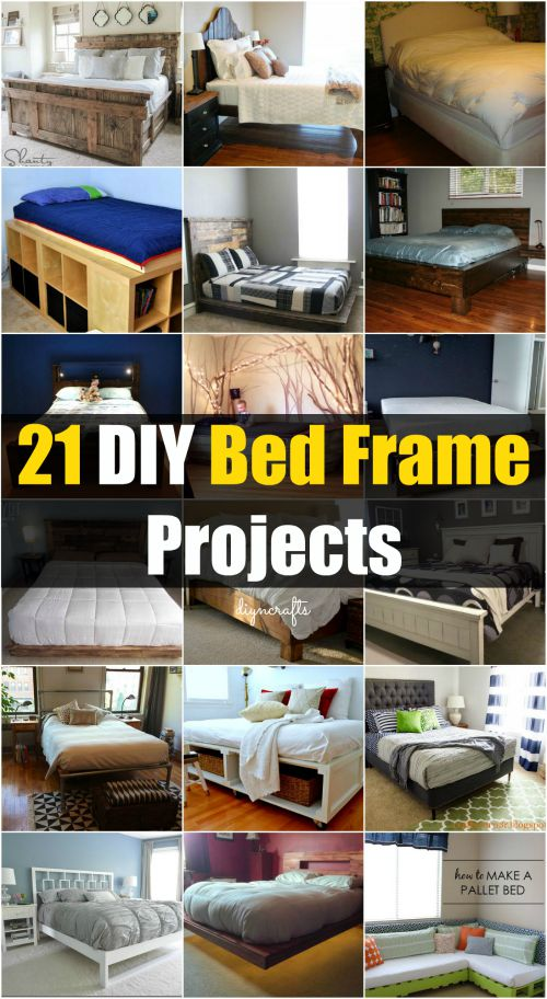 21 DIY Bed Frame Projects U2013 Sleep In Style And Comfort Brilliantly  Decorative Projects!