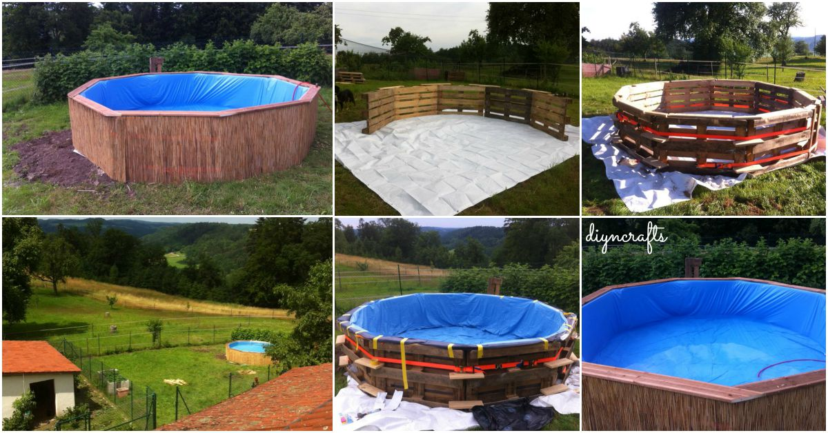 How make your own pallet pool beat the heat and splash - How to build a swimming pool out of wood ...