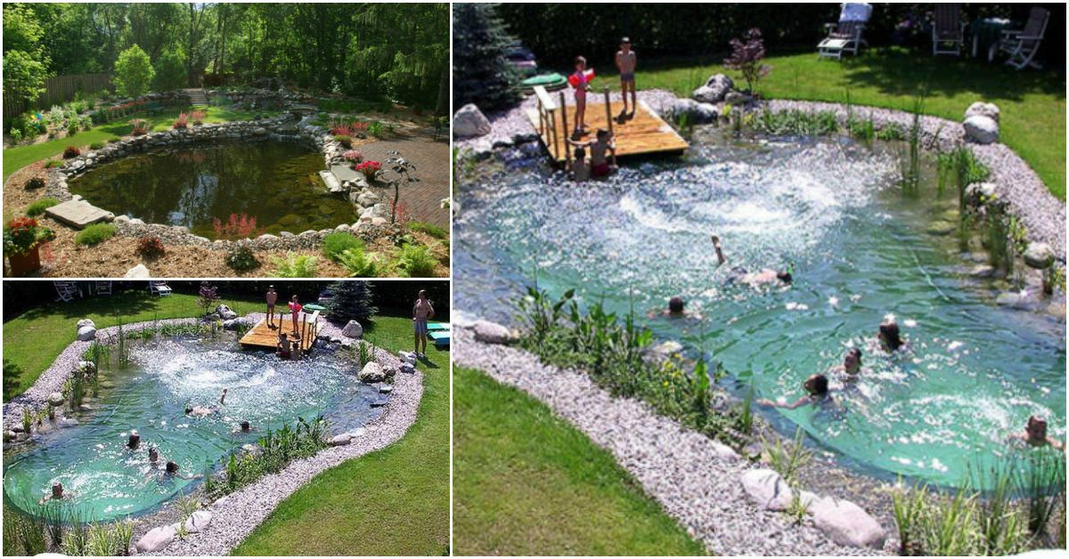 Outdoor natural pool  Magical Outdoor DIY: How Make An All-Natural Swimming Pond - DIY ...
