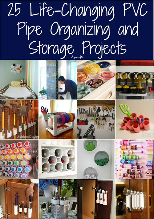 25 Life Changing Pvc Pipe Organizing And Storage Projects Diy