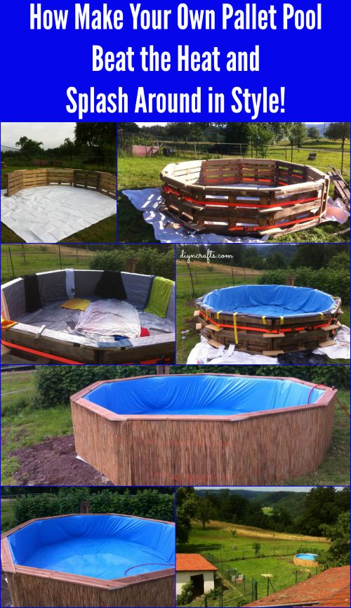 How make your own pallet pool beat the heat and splash for Build your own pool