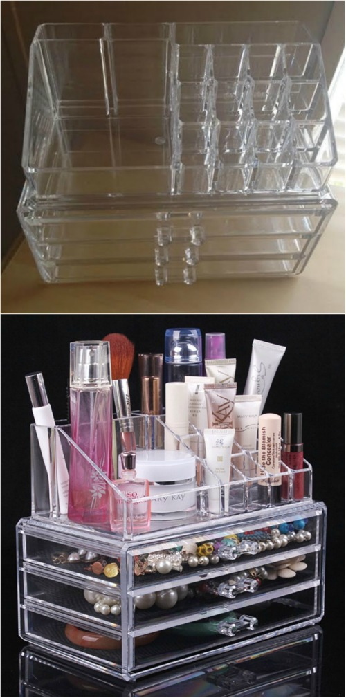 21 diy makeup organizing solutions thatll change your whole beauty ohuhu cosmetic organizer solutioingenieria Gallery