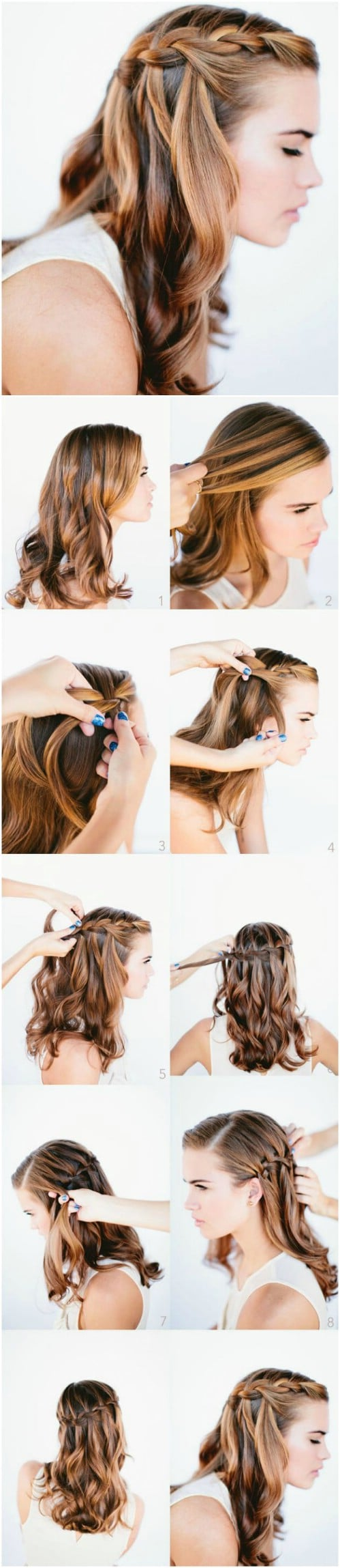 17 Wonderful Waterfall Braid Tutorials For Your Luscious