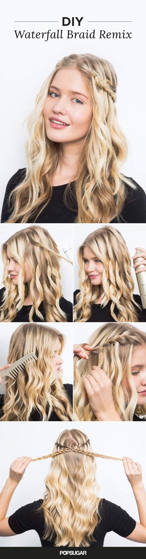 17 wonderful waterfall braid tutorials for your luscious locks diy criss cross waterfall ccuart Image collections