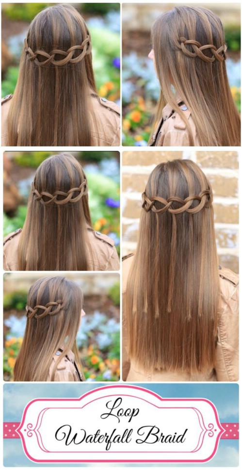 17 Wonderful Waterfall Braid Tutorials For Your Luscious Locks Diy Amp Crafts