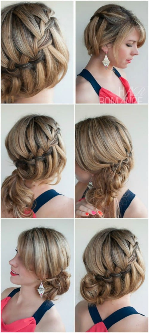 back and sides haircut tutorial 17 wonderful waterfall braid tutorials for your 4759