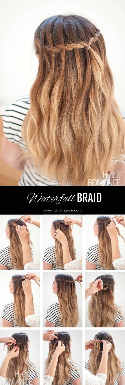17 wonderful waterfall braid tutorials for your luscious locks diy waterfall mermaid ccuart Image collections