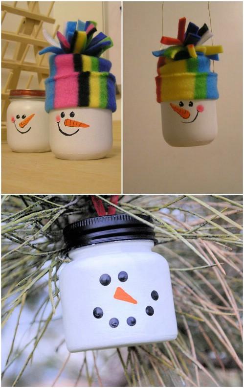 Baby Food Jar Snow Globes 24 Cleverly Creative B...