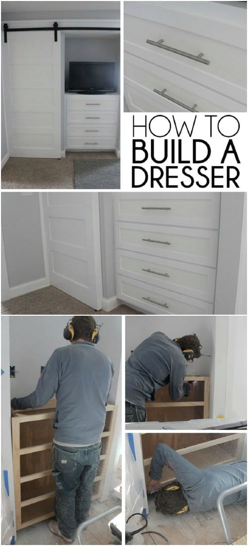 7 Beautifully Functional DIY BuiltIn Dressers to Utilize Your Space