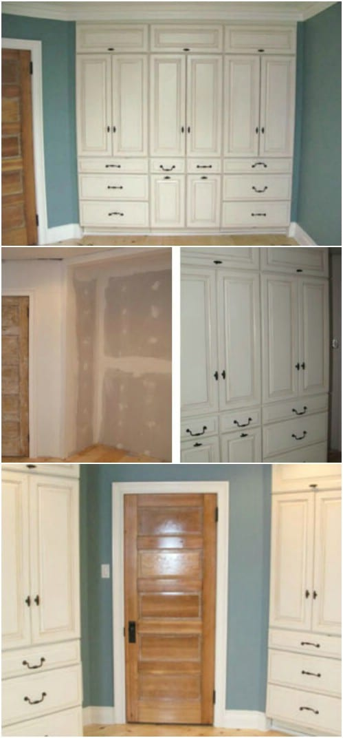 7 Beautifully Functional DIY Built In Dressers To Utilize Your