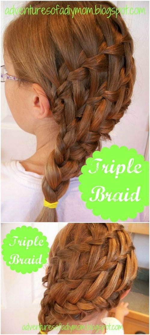 17 wonderful waterfall braid tutorials for your luscious locks diy triple waterfall ccuart Image collections