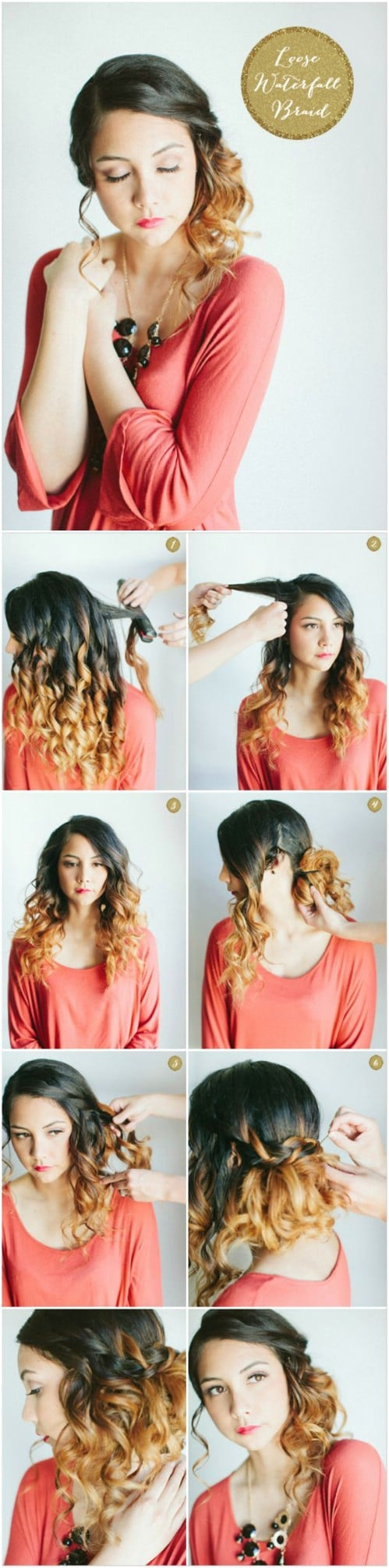 17 wonderful waterfall braid tutorials for your luscious locks diy loose waterfall side do ccuart Images