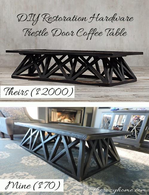 Trestle Door Table