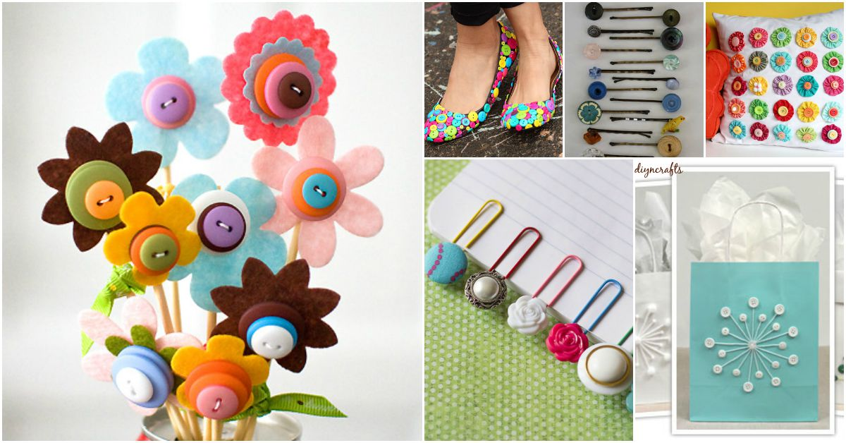 26 Innovative And Beautiful Button Crafts Projects