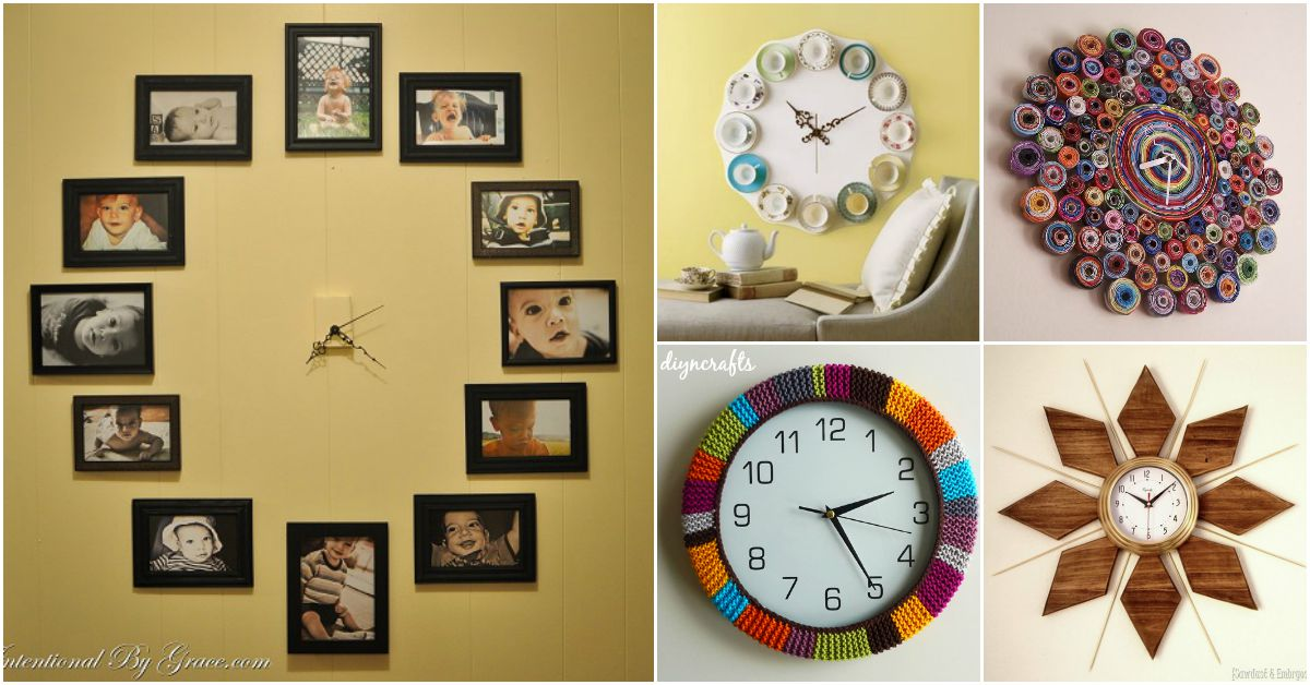 27 Dazzling DIY Clocks – Isn\'t it about Time for an Upgrade? - DIY ...
