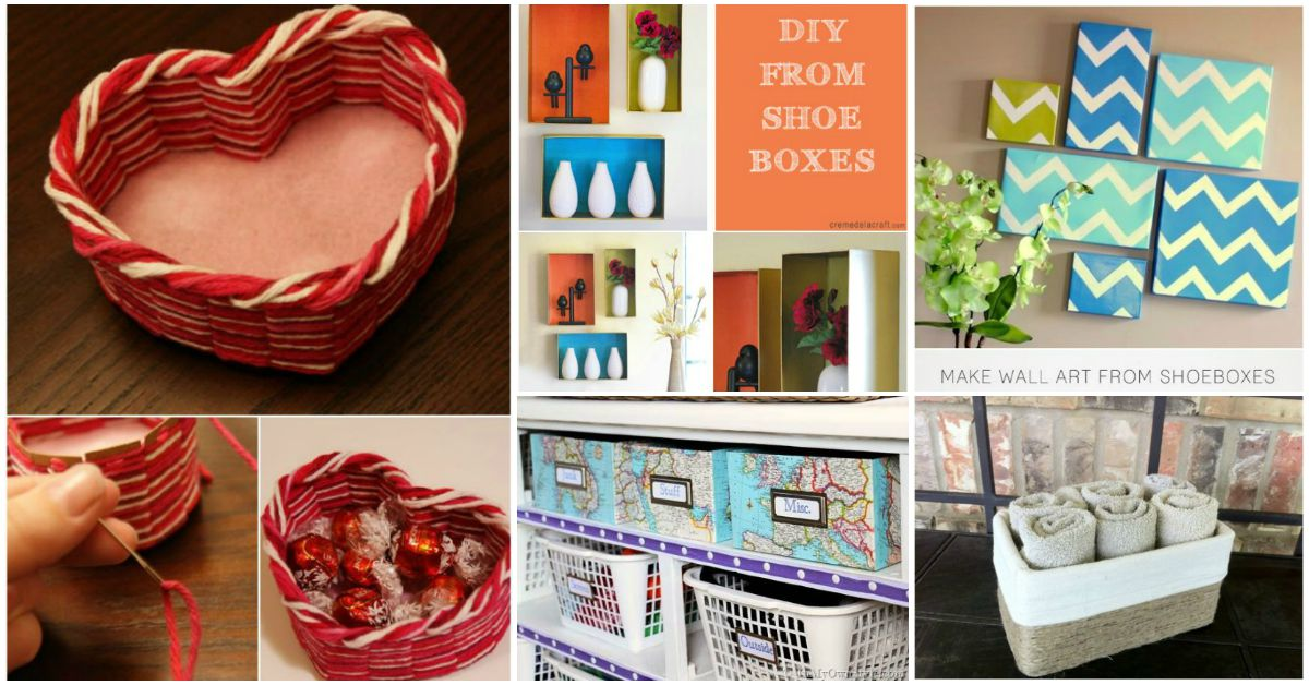 30 Shoe Box Craft Ideas: 25 Brilliantly Crafty Shoebox Projects For You, Your Home
