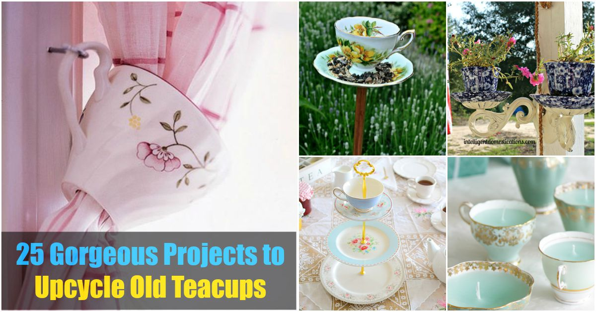 projects idea unique tea cups. From Tea to D cor  25 Gorgeous Projects Upcycle Old Teacups DIY Crafts
