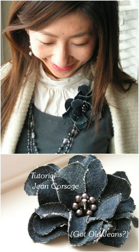 Here is a simpler corsage pattern.