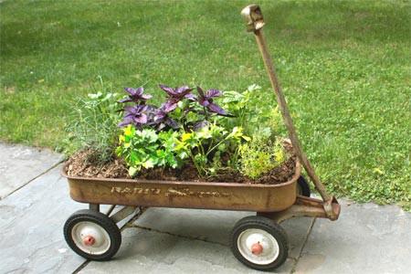 Wagon Herb Planter