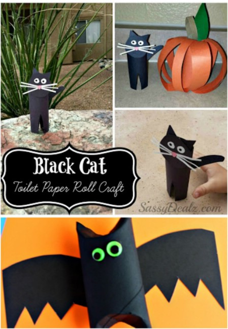 Toilet Roll Bats and Cats