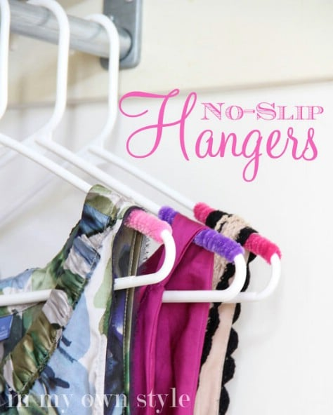 Stop your clothes from falling off your hangars.