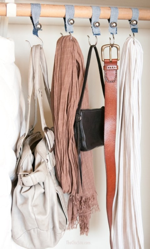 Make closet organizers for scarves and more.