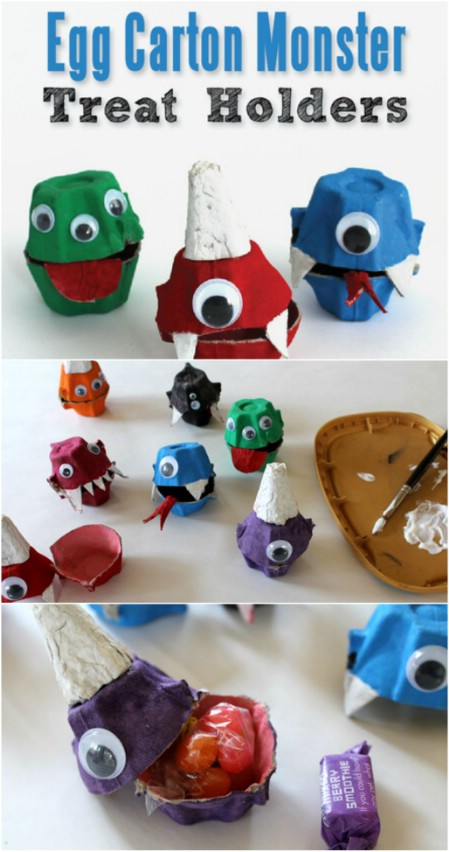 egg carton monsters - Diy Halloween Projects