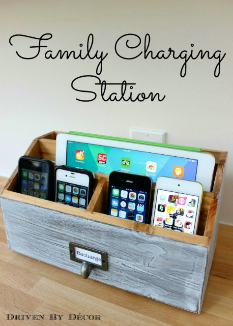 Create a family charging station.