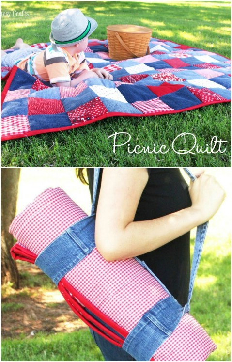 Picnic quilt holder thing looks cool!