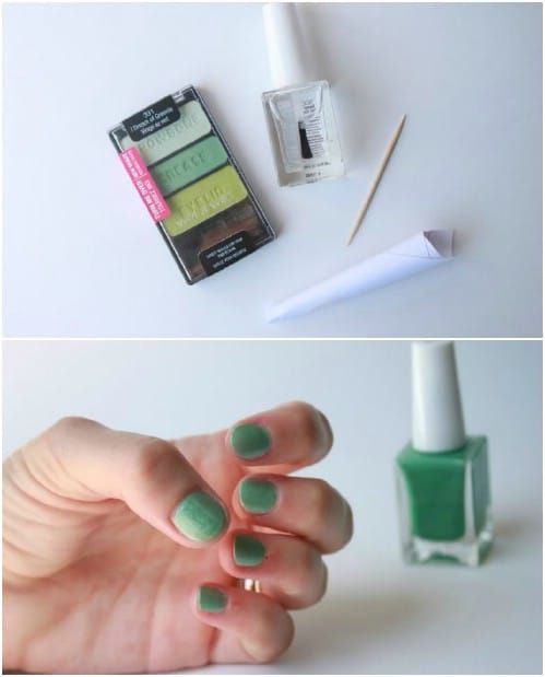 24 surprisingly beneficial and convenient uses for clear nail polish if you cant seem to find the perfect shade of nail polish then you can just make it yourself all you need to do is mix a bit of eyeshadow with clear solutioingenieria Choice Image