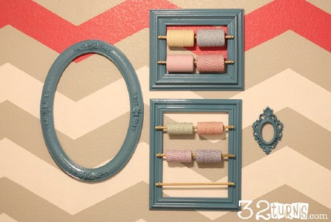 Store twine using a picture frame.