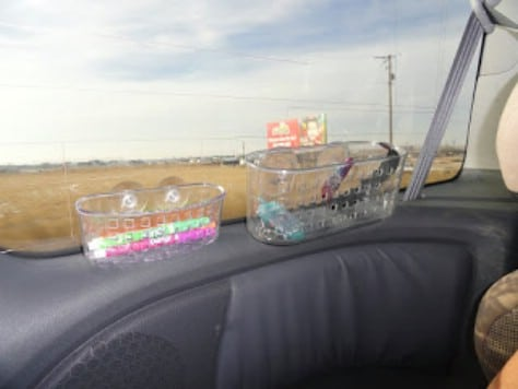 Organize kids' stuff (or your stuff!) on a road trip.