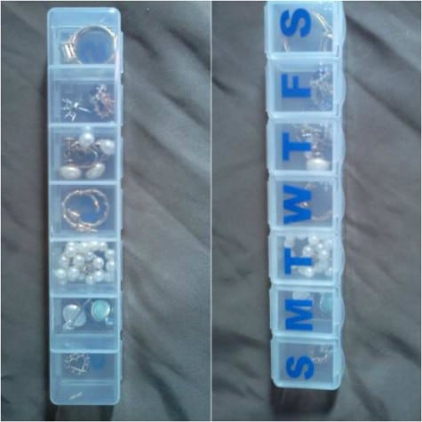 Jewelry travel solution: pill box!