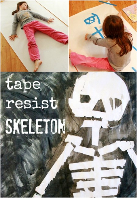 Tape Resist Skeleton